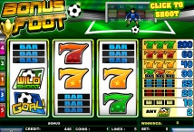 Slot Bonus Foot